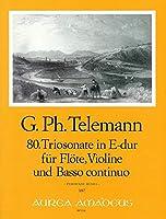 TELEMANN - Trio Sonata en Mi Mayor (TWV:42/e 3) para Flauta, Violin y BC (Partitura/Partes)