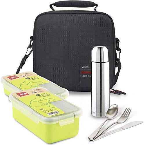 Kit Bolsa Porta Alimentos Valira Bricolemar Compact con 2 Taper Verdes y...