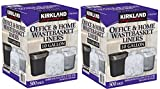 Kirkland Signature Made in USA 10 Gallon Clear Wastebasket Liner Bags for Trash Can 500 Count (2 Pack)