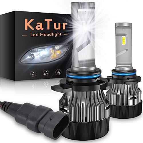 Katur H1 LED-lamp voor koplampen, extreem helder, 10000 lm, Cree mini-design, conversie kit voor koplampen, 60 W, 6500 K, Xenon, wit, 2 jaar garantie 9012 HIR2 Regulable