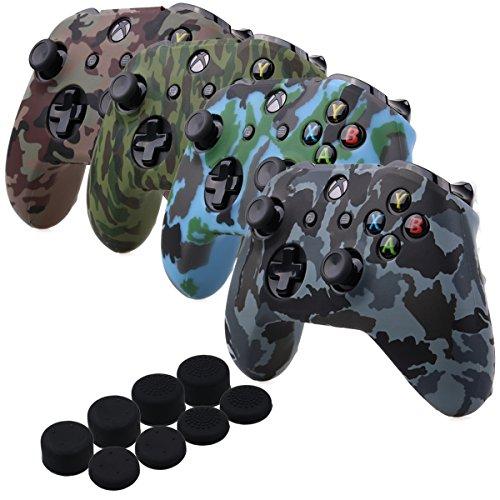 YoRHa Agua Transferir Impresión Camuflaje Silicona Cubrir la Piel Caso para Xbox...