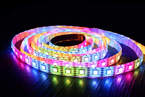 Cololight LED STRIP 60 - RGB Leuchtstreifen, WLAN, kompatibel mit Apple Homekit, Alexa, Google Home, jede LED andere Farbe (60 LEDs pro Meter, Starter Set 2m + 4m Verlängerung)