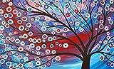 LREFON Puzzle 1000 Piezas Pintura al óleo Flor Árbol,Jigsaw Puzzles desafiantes Rompecabezas para Adultos/Infantiles
