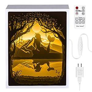 Papercut Light Boxes, Night Light Lamp of Creative Light Paintings