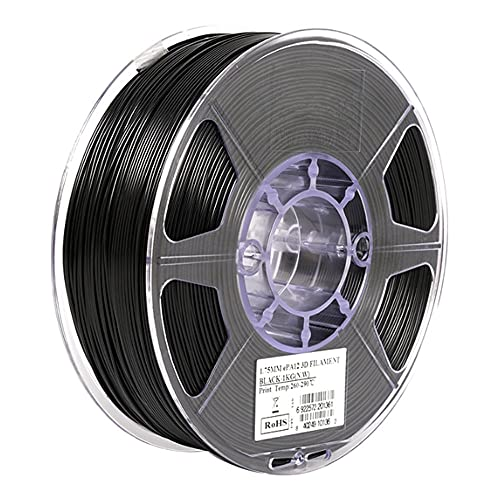 Nylon 12 Filament 1.75mm PA12 3D Printer Filament 1KG 2.2LBS, High Temperature Resistance, High Toughness, Low Water Absorption-black