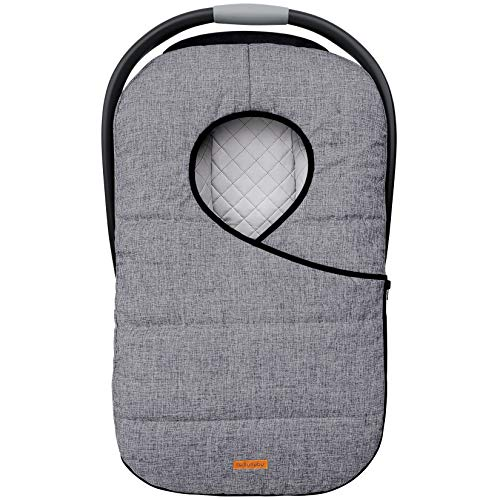 liuliuby Infant Car Seat Cover - Weatherproof Bunting Bag & Blanket - Keeps Baby Warm and Protected Against Cold Weather - Universal Fit (Heather Gray)