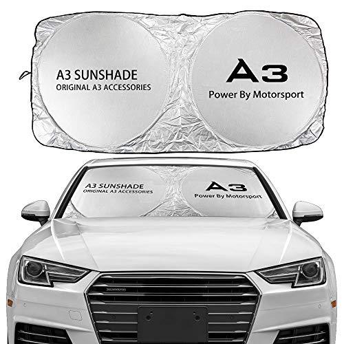 Parasol para parabrisas Compatible con Audi A3 8P 8V A4 B8 B6 A6 C6 C5 A5 Q3 Q5 Q7 TT Accesorios TT Windshield Sun Shade Cover Anti UV Reflector Visor Protector Parasol de Coche ( Color : For A3 )