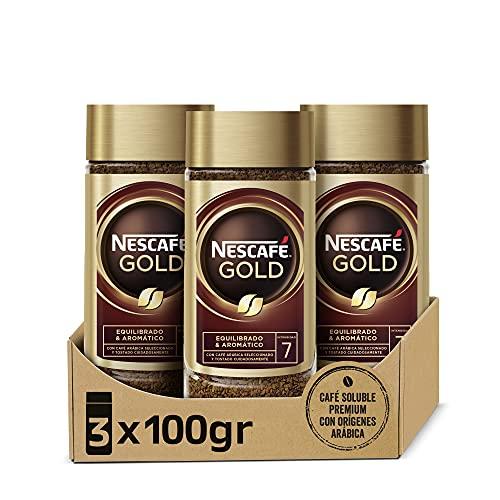NESCAFÉ GOLD NATURAL aroma y sabor, soluble con café molido de tueste...