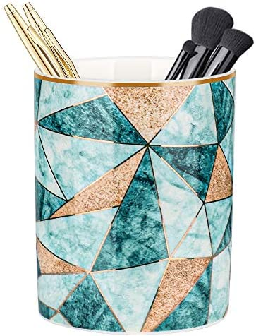 Unibene Ceramic Pen Holder for Desk Makeup Brushes Cup Pencil Holders Durable Office Home Organizer product image