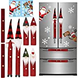 8PCS Gnome Christmas Refrigerator Door Handle Cover Set Add A Sheet Christmas Window Clings, Swedish Tomte Kitchen Appliance Handle Covers for Oven Microwave Dishwasher Door Handle Protection