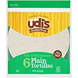 Udi's Gluten Free Soft and Wholesome Tortillas, Plain, Dairy Free and Nut Free, 6 Count (Frozen)