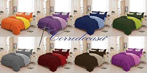 Corredocasa - Piumone / Trapunta Invernale 1 Piazza e Mezza Royal Tinta Unita Double Face 220 x 260 cm Made in Italy (Colore da scegliere con una mail) …