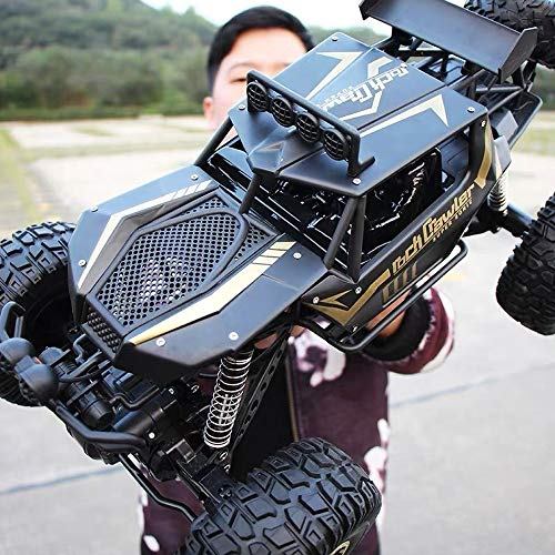 Kikioo High Speed ​​Riese 1:10 2,4 GHz Funkfernbedienung Auto RC Off Road Hobby Elektro Schnell Racing Rock Crawler Monster Truck Große Füße Große Legierung 4WD Driften Klettern Autos Geschenk für Jun