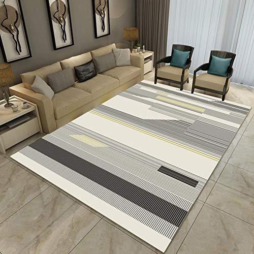 BYGenMai Tapis de Sol Motif géométrique Abstrait Morden Carpet Soft Rug,B,120x160CM