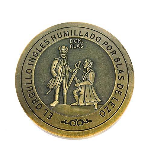 Gemelolandia - Moneta Blas di Lezo omenaggio | Monete da collezione uniche per regali esclusivi e originali o per collezionisti | Hobby, intrattenimento per tutte le età