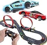 BJINDH 6.2M Pista de Autos de Carreras Set Competitive Racing R/C Control Remoto de Alta Velocidad Conjunto de Pista de Speedway for 6 años de Edad for niños y niñas Navidad/Regalo de cumpleaños