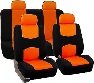 JKHOIUH Funda de Asiento General for automóvil Cojín de 5 Asientos Funda de Asiento de 9 Piezas for Viaje Funda de Asiento Universal Four Seasons Funda de General Motors (Color : Naranja)