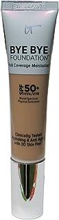 IT Cosmetics Bye Bye Foundation Full Coverage Moisturizer with SPF 50+: MEDIUM - 1 oz-30 ml