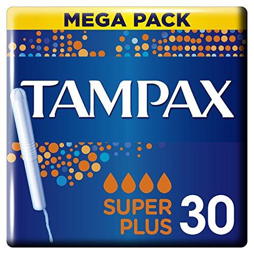 Tampax Super Plus Tampones con Aplicador - 30Unidades