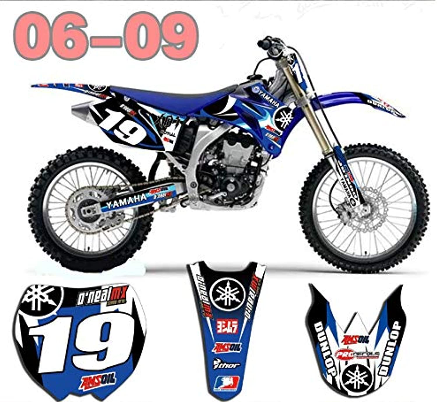 Dirt Bike Graphics Stickers Motocross for Yamaha YZ250F YZ450F YZF450 2006-2009