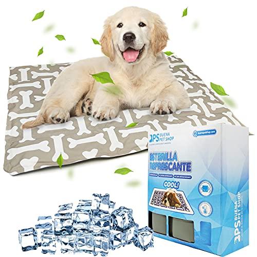 Alfombrilla Refrescante para Perros Gatos Alfombra de Enfriamiento Manta Auto Refrigerante Mascotas Ideal para Perros Gatos en Verano 3 Tamaños Color al Azar (M: 60x45 cm) BPS-5742