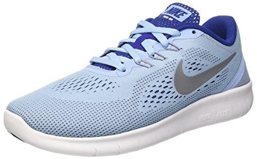 Nike Unisex-Kinder Free RN (GS) Running Shoe Low-Top, Blau (401 Bluecap/METALLIC Silver-DEEP ROYAL Blue), 38 EU