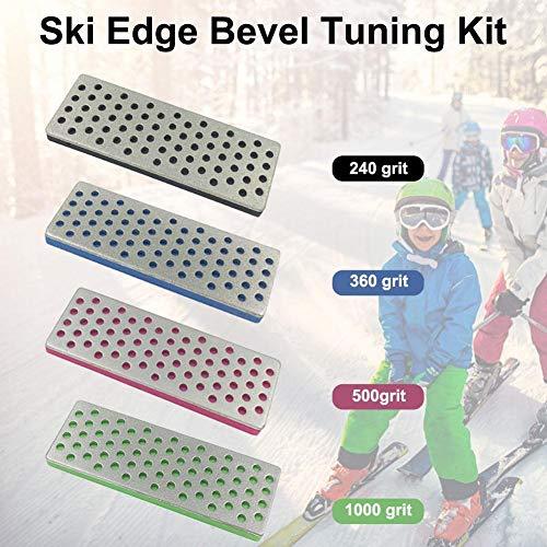Knowled 4 STÜCK Premium Kantenschärfer-Set , Snowboard Ski Kantenpflege Kit ,Edge Tuner Kit Mit Edge Tuner Für Alle Kantenschärfer Kantenschleifer Seitenkantenschleifer Pleasure