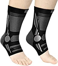 NEENCA Professional Ankle Brace Compression Sleeve (Pair), Ankle Support Stabilizer Wrap. Heel Brace for Achilles Tendonitis, Plantar Fasciitis, Joint Pain,Swelling,Heel Spurs, Injury Recovery, Sports