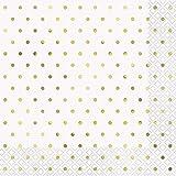 Unique Party- Serviettes de table en papier, 72572, doré