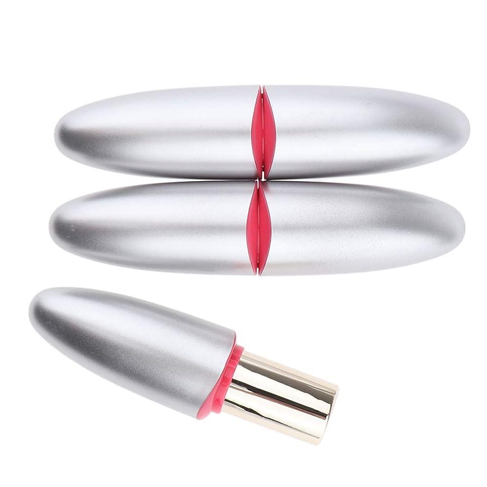 冷ややかなあえぎヒットB Blesiya 3本 口紅チューブ 12.1mm シルバー DIY リップグロス 口紅金型
