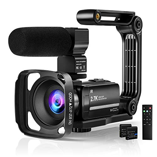 Yoroshi 2.7K Video Camera Camcorde for Youtube,Vlogging Camera UHD IR Night...
