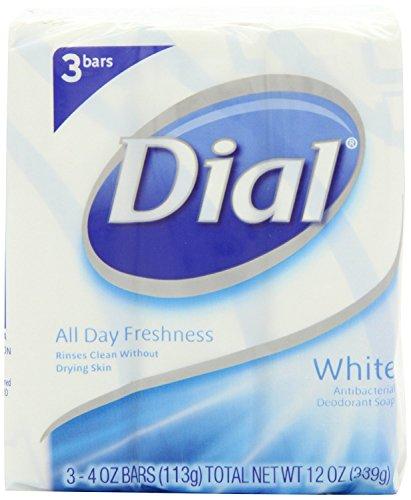 Dial Antibacterial Deodorant Soap, White, 4 Ounce, 9 Bars