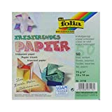 Global Art Folia 6-Inch by 6-Inch Textured Iridescent Origami Paper,...