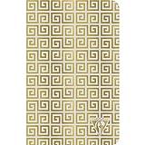 Clairefontaine 193106C Neo Deco - Cuaderno de costura textil (96 páginas, marfil, 11 x 17 cm, 90 g, rayas), tapa de tarjeta con película azul esmerilado, diseño antiguo