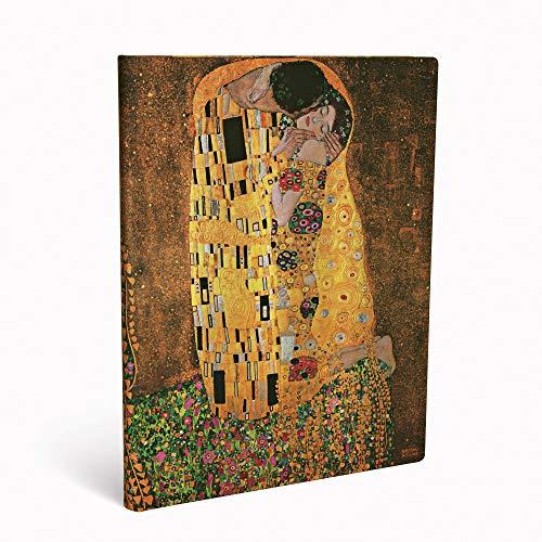 Paperblanks Diari a Copertina Rigida Centenario di Klimt – Il Bacio | Bianco | Ultra (180 × 230 mm)
