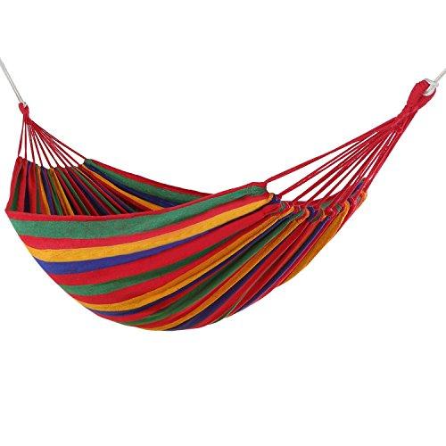 Best Purchase Hamaca tela de algodón y poliéster para camping jardín camping...