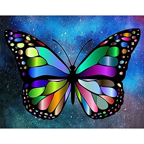 5D DIY diamante pintura mariposa diamante bordado mosaico imagen punto de cruz mano conjunto Animal patrón A8 50x70cm