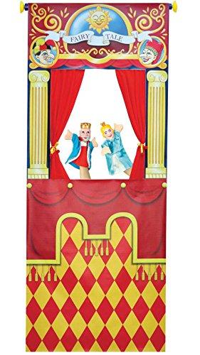 Handpuppen Theater für die Tür mit 4 Handpuppen Türtheater