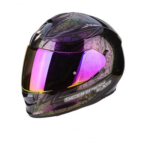 Scorpion casco moto exo-510 air fantasy chameleon nero xs