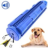 Pamlulu Dog Toothbrush Squeak Toys Durable Dog Dental Chew Toothbrush Toy Natural Rubber Teeth Cleaning Chewing Brush Sticks Bones for Medium/Small Dogs Pet (