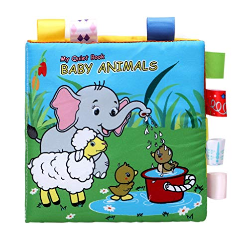 Dartphew Baby Animals Puzzle Lovely Cloth Book Baby Toy Cloth Development BB Sound Books Kids Birthday Educational Best Gift for Children Boys, Girls,Toddlers
