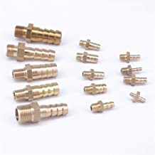 Hose Barb I/D 2.5Mm 3Mm 4Mm 5Mm 6Mm 8Mm 10Mm X Metric M5 M6 M8 M10 M12 Male Brass Splicer Coupler Connector Fittings M6 to 4mm
