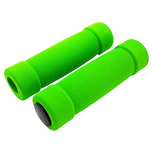 Land-Haus-Shop® Fahrradgriffe, Fahrrad Griffe, Lenkergriffe, Moosgummi Überzug/Schaumstoff grün
