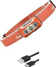 DIRIGIÓ krachtige hoofdlamp voor outdoor/camping/hardlopen, schijnwerper voor volwassenen en kinderen, zwart/oranje (kleu...