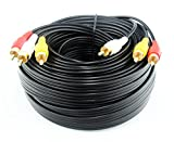 Audio Video Cable,Composite 50 ft Cord RCA to RCA M/Mx3,AV Cable for TV,DVD,VCD etd.