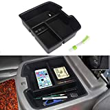 VANJING Compatible with Center Console Organizer Insert Tray Chevy GMC Sierra Silverado Tahoe Yukon Suburban 2007-2014 Accessories with A Cleaner Brush