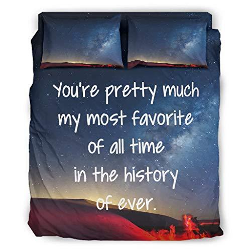FFanClassic 4-teiliges Bettwäscheset 'You're Pretty Much', beliebtes und bequemes...