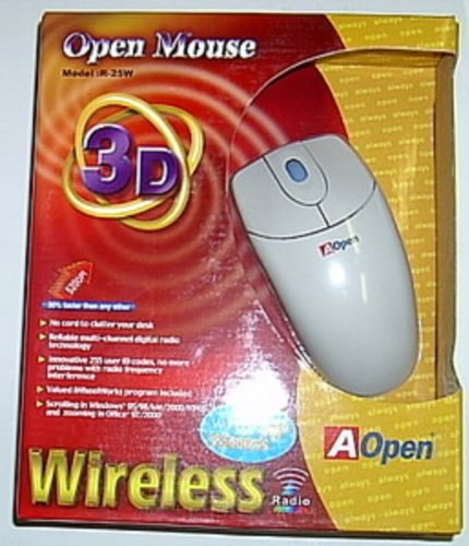 Wireless Radio Scrolling Mouse w/ PS/2 Connection - Great for Laptops and Desktops