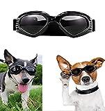 Occhiali da Sole per Animali Occhiali da Sole per Cani Impermeabile A Prova di Vento Occhiali di Sicurezza Occhiali da Sole Eleganti per Cani di Taglia Media E Piccola Gatti per Cani-nero