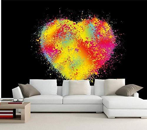Abstraction Heart Graphics Mural Wallpaper 3D,Hotel Bar Living Room Sofa TV Wall Bedroom Wallpaper 140(l) x100(H) cm